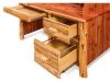 Log Rolltop Desk: Single Pedestal-Drawers-FS