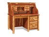 Log Rolltop Desk: Single Pedestal-Open-FS