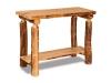 Log Sofa Table: Flat w/Shelf-Aspen-FS