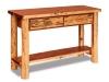 Log Sofa Table w/Drawer-Red Cedar-FS