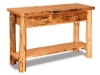 Log Sofa Table w/Drawers-Rustic Pine-FS