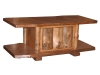 Log Coffee Table with Slab Door-Rustic Pine-FS