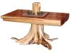 Log Coffee Tsble: Half Log Coffee Table-Cedar-FS