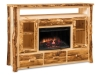 Log 5 1/2 Foot TV Cabinet with Fireplace-Aspen-FS
