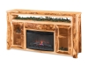 LR726-A: Log TV Cabinet with Fireplace-FS