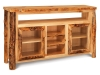 Log TV Cabinet w/Opening-Aspen-FS