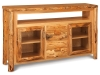 LR725-RP: Log TV Cabinet w/Drawers w/Opening-FS