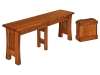 Arts and Crafts Extenda Bench-WP